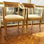 Pair of Vintage Michael Taylor Volpe Greek Key Chairs