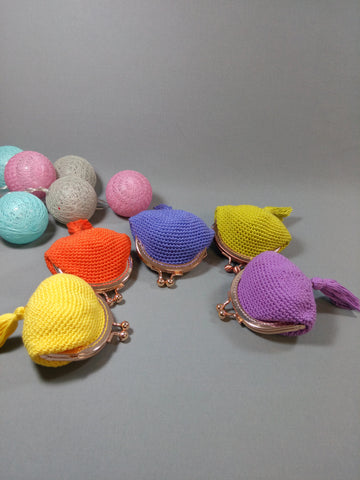 Hand crocheted coin holders