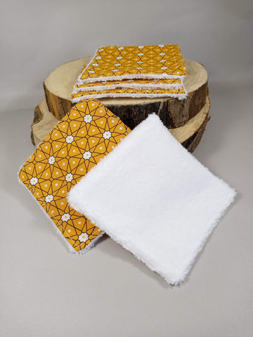"Make-up removing squares - washable wipes ""Gray white"""