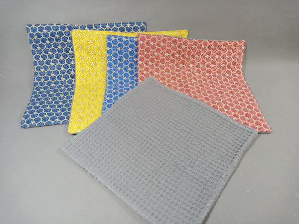 Essuies tout lavables - lot de 5 - serviettes de table - Riad5
