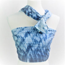 Load image into Gallery viewer, Ripple Indigo Dyed Long Scarf