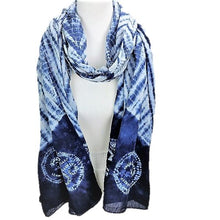 Load image into Gallery viewer, Savasana Indigo Dyed Long Scarf