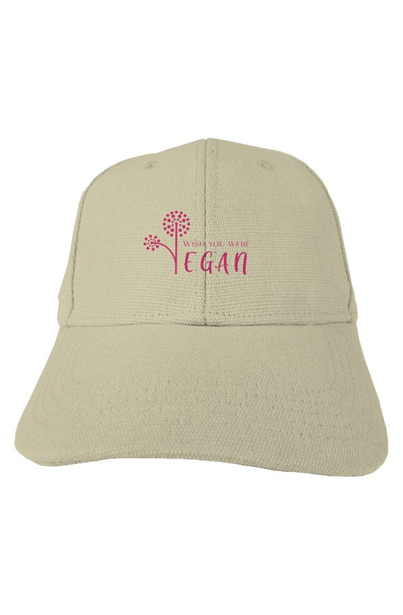 Pink Logo - Natural Hemp Cap