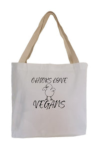 Checks Love Vegans Eco Canvas Tote