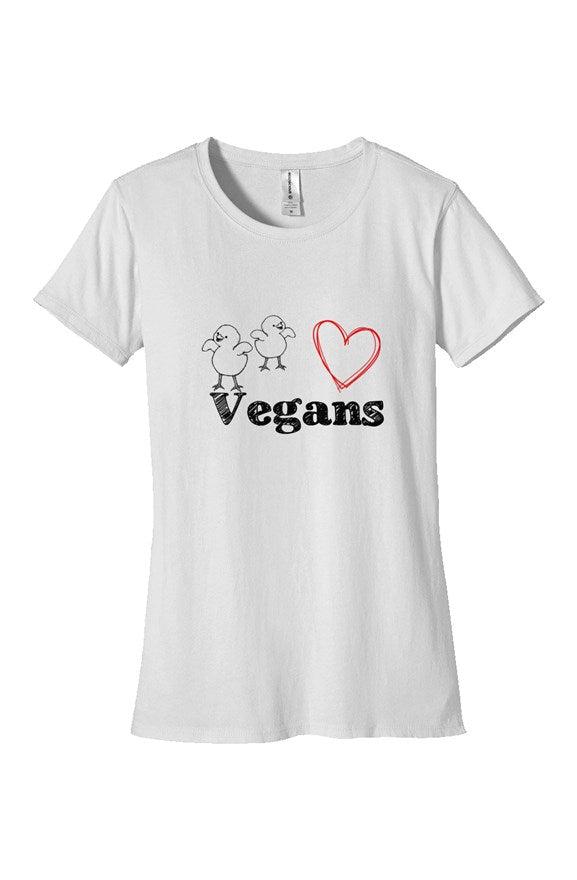 Women's Chicks Love Vegans T-Shirt - White