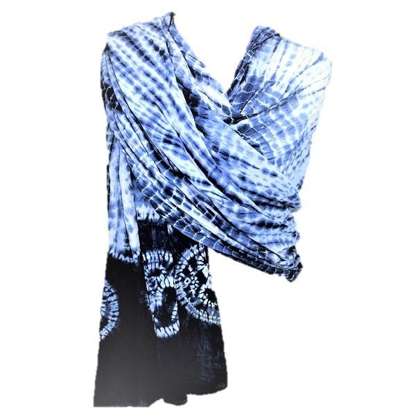 Savasana Indigo Dyed Long Scarf