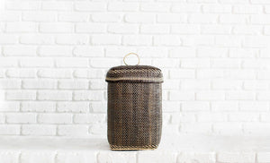 Handmade Bidayuh Lidded Storage Basket | Tall