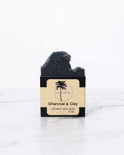 Load image into Gallery viewer, Charcoal + Clay Coconut Milk Soap