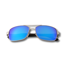 Load image into Gallery viewer, Real Ebony Wood Silver Framed Slim Aviators by WUDN