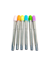 Load image into Gallery viewer, Collapsible Stainless Steel Boba Straw with Colorful Silicone Tip