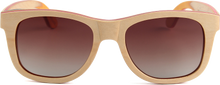 Load image into Gallery viewer, Recycled Skatedeck Kickflip Natural Sunglasses by WUDN