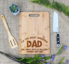 Load image into Gallery viewer, To the Most Awesome Dad Rectangular Board