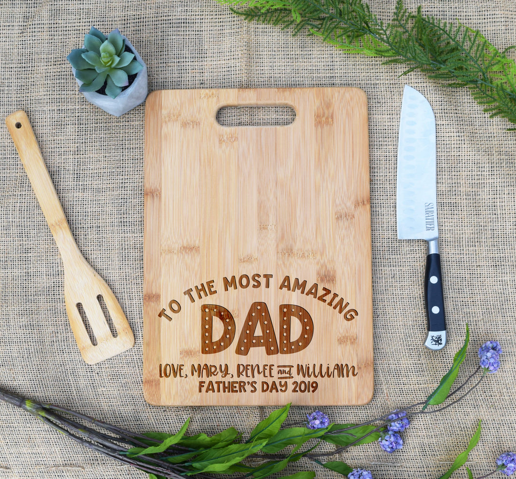 To the Most Awesome Dad Rectangular Board