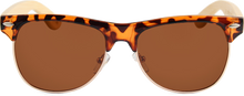 Load image into Gallery viewer, Real Bamboo Tortoise Frame Browline Style RetroShade Sunglasses by WUDN