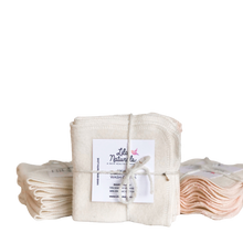 Load image into Gallery viewer, Organic Bamboo Cotton Cleansing Cloths