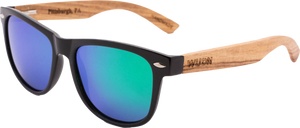 Real Zebra Wood Wanderer Sunglasses by WUDN