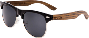 Real Ebony Zebrawood Browline Style RetroShade Sunglasses by WUDN