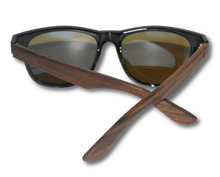 Load image into Gallery viewer, Real Ebony Wood Wanderer Style Sunglasses by WUDN