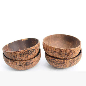 Handmade Coconut Bowls (Set of 4)  - FREE US Shipping