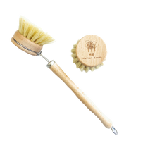 Load image into Gallery viewer, Beechwood & Sisal Fiber Kitchen Dish Brush