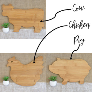 This is Where I Slaughter my Vegetables Animal Shaped Cutting Board
