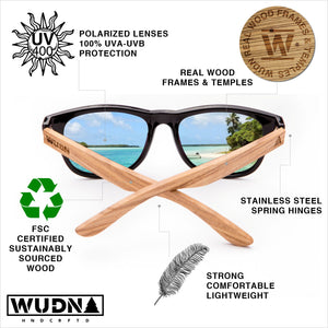 Real Rose Wood Wanderer Sunglasses by WUDN