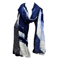Load image into Gallery viewer, Serenity Indigo Dyed Long Scarf