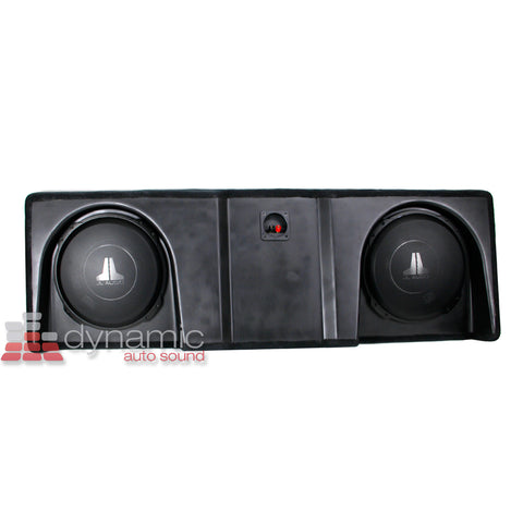 JL Audio SB-GM-SLVCC2/12TW3/BK Stealthbox for 2007-2013 Chevrolet Silverado / GMC Sierra Crew Cab Trucks SKU# 94581