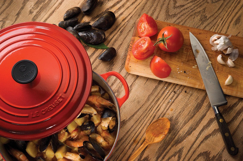 Le Creuset Cherry Cast Iron Cookware