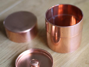 COPPER CADDY 銅丸缶