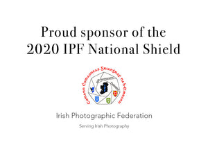 IPF National Shield Sponsor 2020. Use SHIELD2020 for 10% off Canson, Hahnemuhle and Sy. Cuthberts paperstill 22/12/20. Shield Winners 2020 IPF Ireland