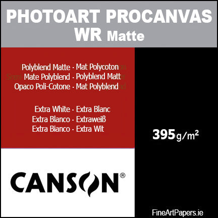 Canson PhotoArt Pro Matte Canvas 395gsm.