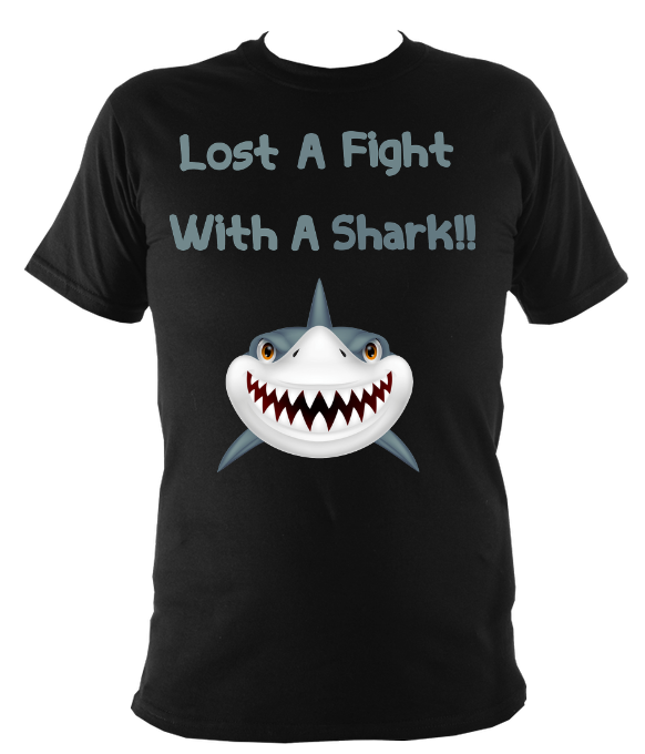 I lost a fight with a shark t shirt
