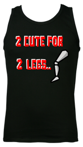 mens 2 cute for 2 legs gym vest