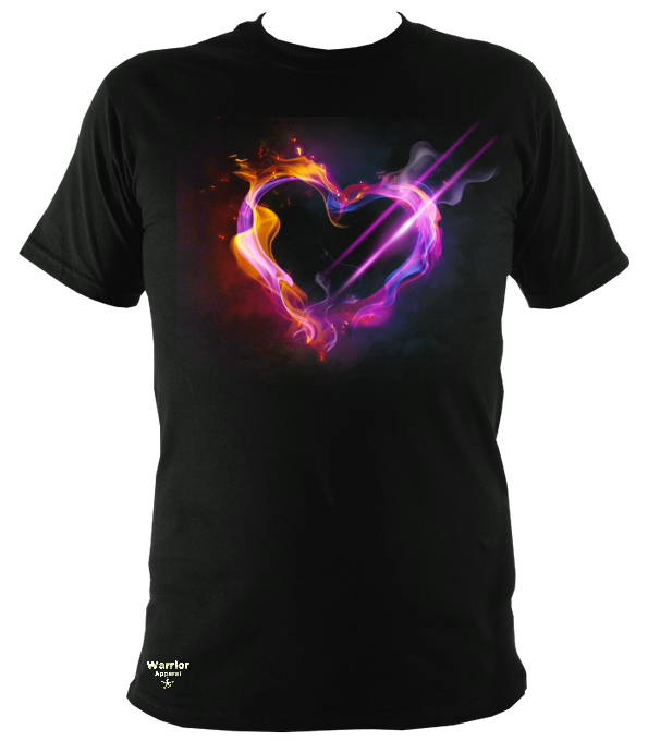 smoke heart t shirt