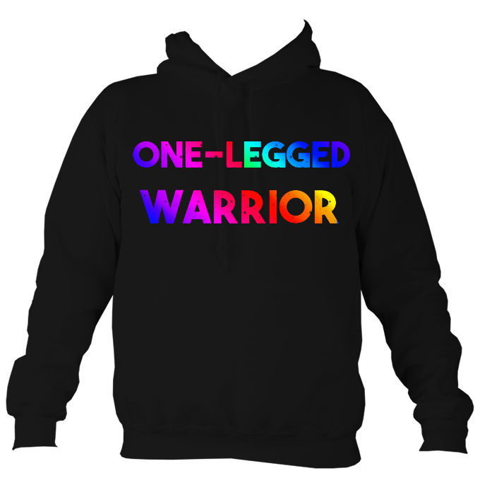 One legged warrior rainbow hoodie