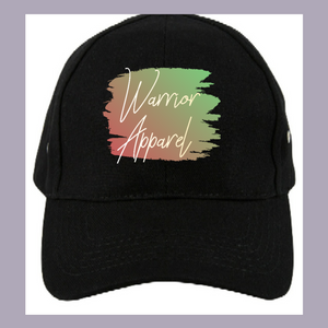 Green and red warrior baseball cap