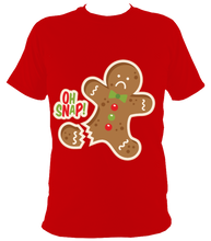 Load image into Gallery viewer, Christmas oh snap t shirt