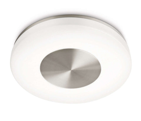 Philips myBathroom BEACH Chrome Ceiling Light - LED Bulb Centre Ltd
