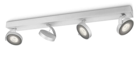Philips myLiving CLOCKWORK BAR Aluminium 4x4W LED Ceiling/Wall Light - LED Bulb Centre Ltd