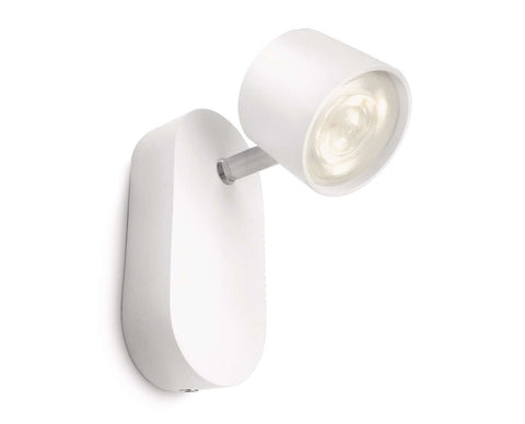 Philips myLiving STAR SPOT White 3W LED Wall Light - LED Bulb Centre Ltd