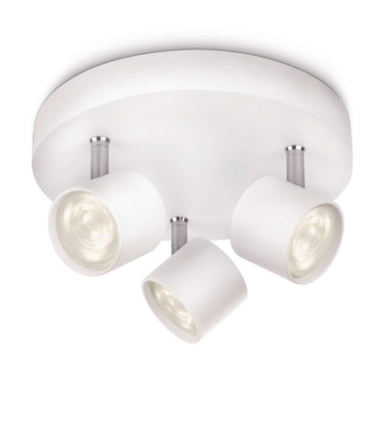 Philips myLiving STAR ROUND SPOT White 3x3W LED Ceiling Light - LED Bulb Centre Ltd