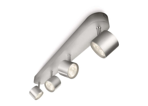 Philips myLiving STAR BAR SPOT Aluminium 4x3W LED Ceiling Light - LED Bulb Centre Ltd