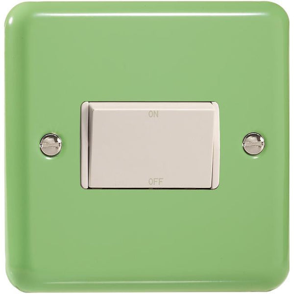 Varilight Classic 10A Fan Isolating Switch (3 Pole) - Lily Beryl Green (White Inserts) - LED Bulb Centre Ltd