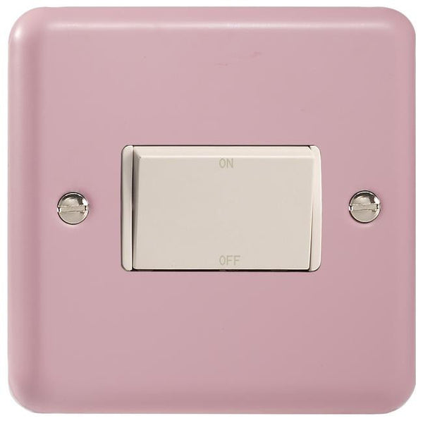 Varilight Classic 10A Fan Isolating Switch (3 Pole) - Lily Rose Pink (White Inserts) - LED Bulb Centre Ltd