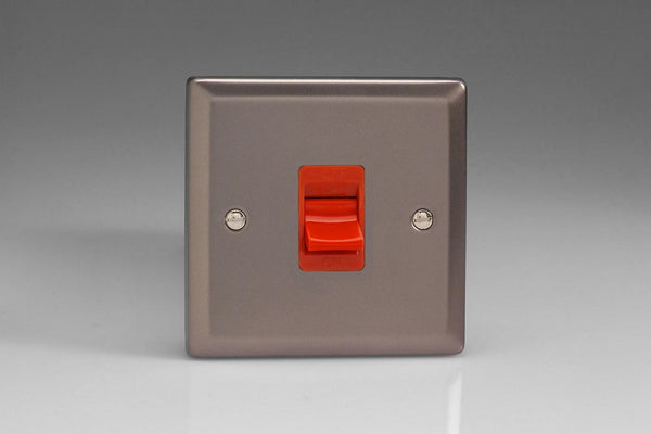 Varilight Classic 45A Cooker Switch - Pewter (Black Inserts) - LED Bulb Centre Ltd
