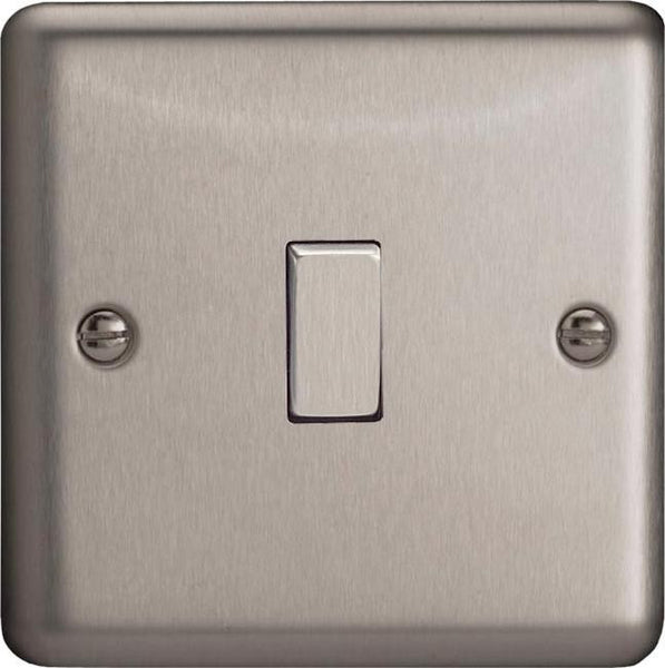 Varilight Classic Rocker Switch - Brushed Steel (Metal Inserts)