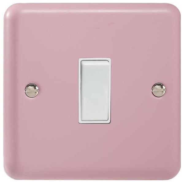 Varilight Classic Rocker Switch - Lily Rose Pink (White Inserts) - LED Bulb Centre Ltd