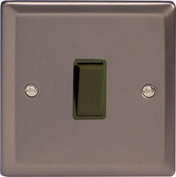 Varilight Classic Rocker Switch - Pewter (Black Inserts) - LED Bulb Centre Ltd