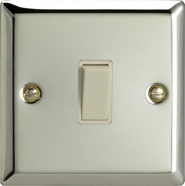 Varilight Classic Rocker Switch - Polished Chrome (White Inserts) - LED Bulb Centre Ltd